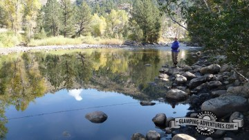 Fly fishing, Poudre River.