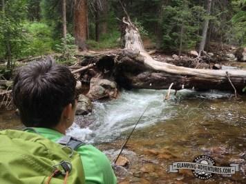Hiking and fishing along Gore Creek.
