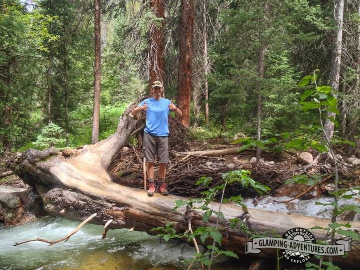 Na discovered a cool bridge across Gore Creek.