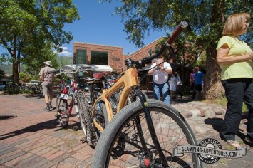 Cool wooden bike in Aspen.