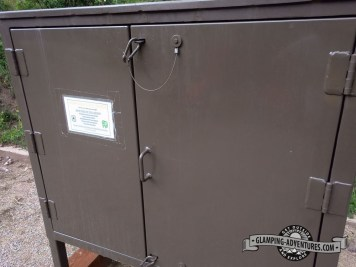 Campsite bear box.