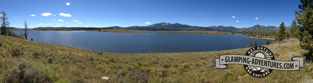View from Tombstone Nature Trail. Steamboat Lake, CO.