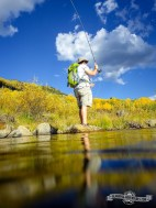 Nothing better than hiking and fly fishing. East Brush Creek, Sylvan Lake S.P.