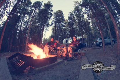 Hanging around the campfire. Golden Gate Canyon S.P.