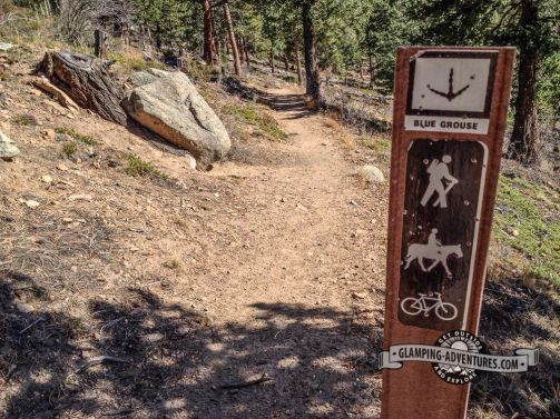 Switching it up, heading to Kriley Pond for lunch. Blue Grouse Trail. Golden Gate Canyon S.P.