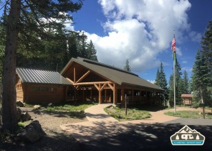 Visitors Center. Cobbett Lake CG, Grand Mesa CO.