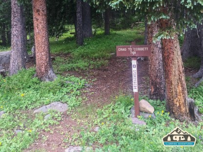 Beginning of the trailhead in the campgound. Cobbett Lake CG, Grand Mesa CO.