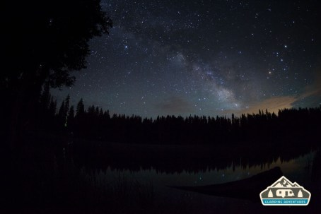 Milky Way over Cobbett Lake. Cobbett Lake CG, Grand Mesa CO.