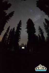 Milky Way over the Airstream. Cobbett Lake CG, Grand Mesa CO.