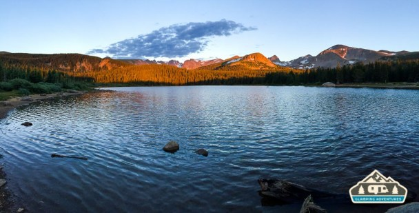 Sunrise over Brainard Lake, CO.