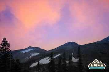 Sunset at the site. Pawnee CG.
