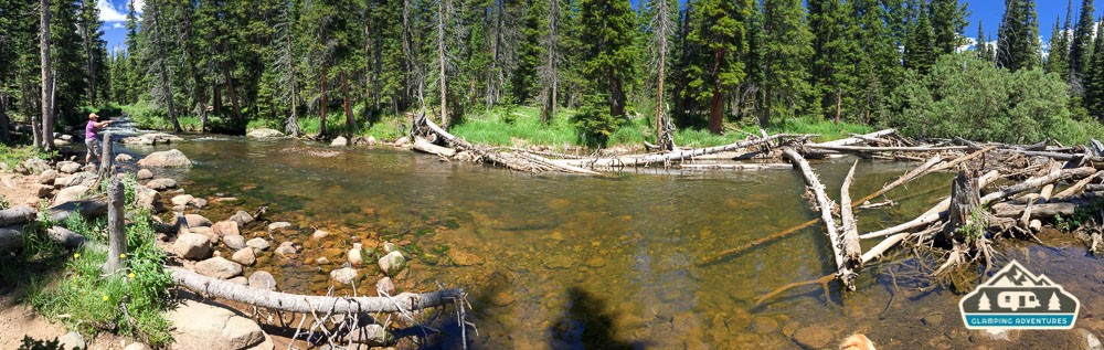 Perfect place for fishing and swimming! S. St. Vrain.