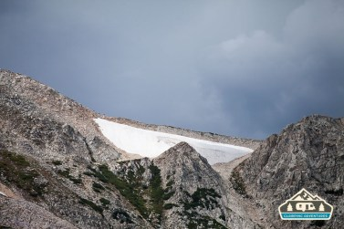 The storm has found us! South Gap Lake, WY.