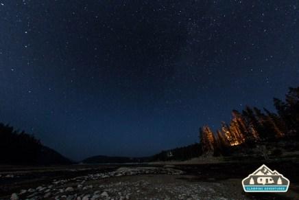 Night sky at Chambers Lake.