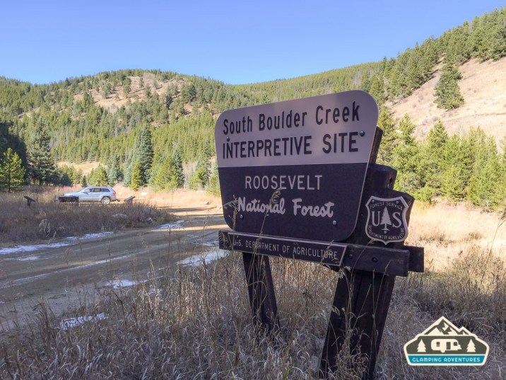 The official spot to park and enjoy Boulder Creek. Portal Rd., CO