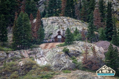 Cute cabin along the Million Dollar Highway.