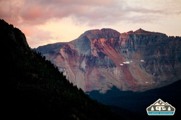 Sunset on the way back to our campsite, Telluride, CO.
