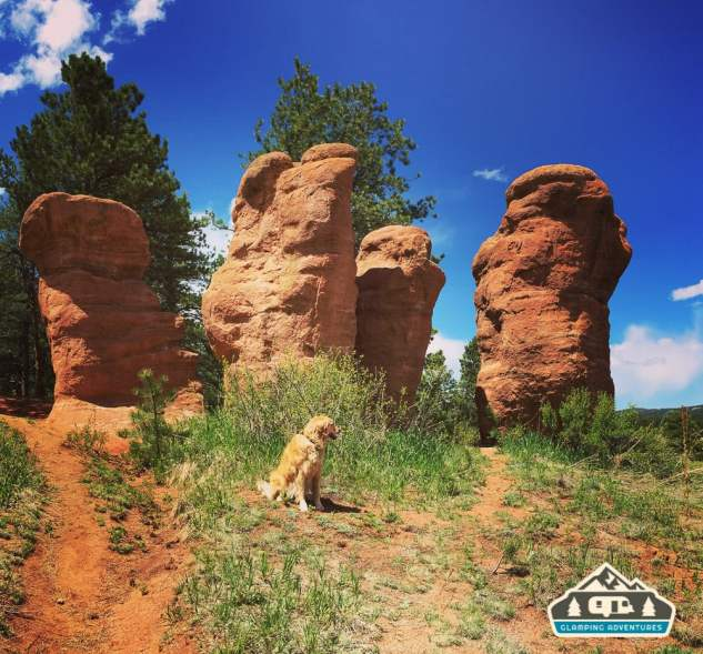Beautiful rock formations. Manitou Recreational Area, CO.