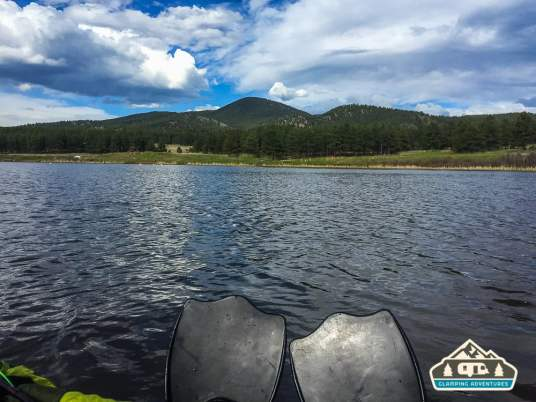 Paddling around the lake. Manitou Recreational Area, CO.