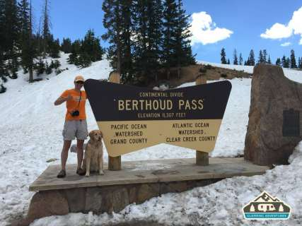 The divide! Berthoud Pass, CO.