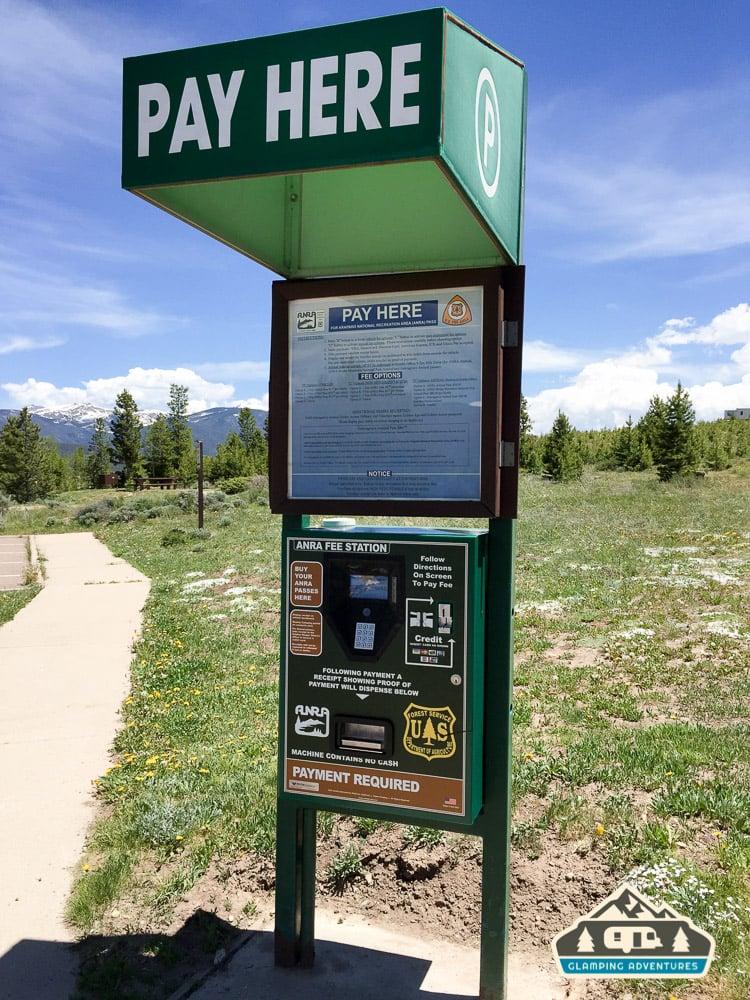 Arapaho National Recreation Area (ANRA) fee station.