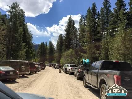 So many cars! Monarch Lake, CO.