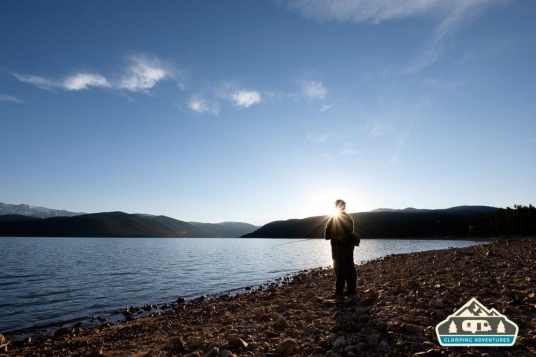 Catching a few trout as the sun sets. Turquoise Lake, Leadville, CO.