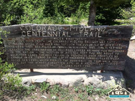 Info about the Midland Trail. Hagerman Pass Rd. Leadville, CO.