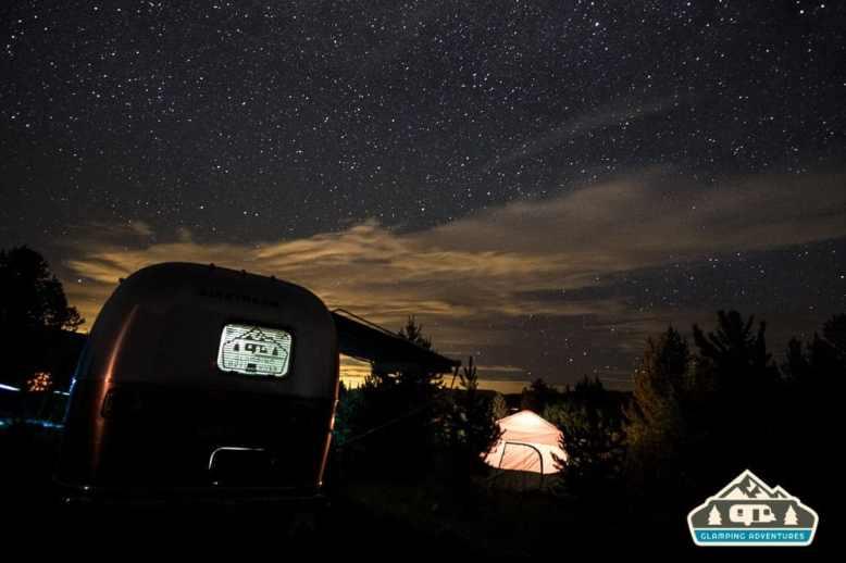 Night sky over the campsite. Heaton Bay C.G., Colorado.