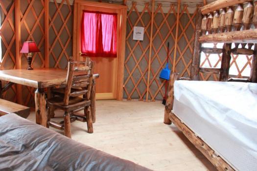 cliffside yurt