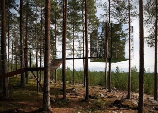 Mirrorcube-Tree-Hotel-in-Sweden-1