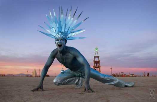 burning man blue