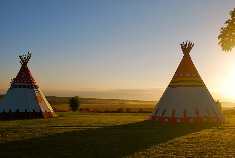 Glamping Tipis In France  Brilliant Family Friendly