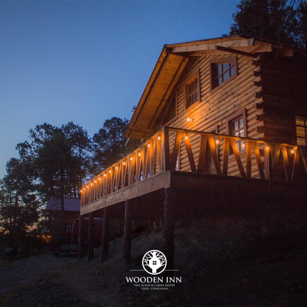 Cabañas en árbol y Burbujas Glamping en «Wooden Inn» Rochivo creel, Chihuahua