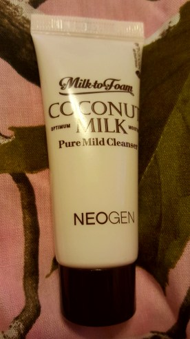 My daughter and I thought this was really stinky lotion. Guess what? It's face wash! Neogen's Milk to Foam Coconut Milk cleanser. I'm excited to try it.
