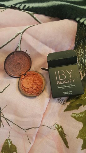 IBY Beauty's pressed blush in shade 'Peach Sheen' unfortunately this came broken which made my heart weep. From what got on my hand, it was like a more pigmented NARS's Orgasm.