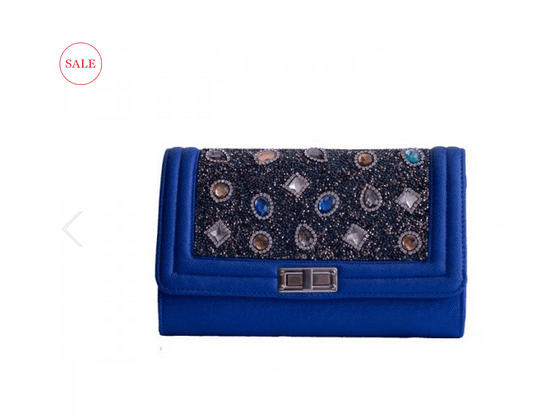 4. Blue Diamonte Purse