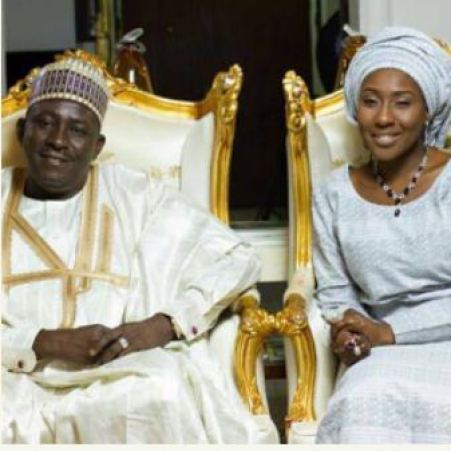 Image result for buhari in his daughter's wedding