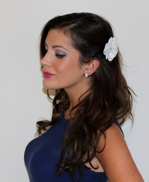 This is another view of the previous makeup look. The flower in my hair is from Shopbop!