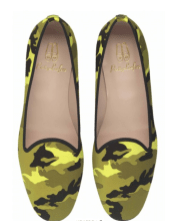 Pretty Loafers Faye Fluo Camouflage Smoking Slippers