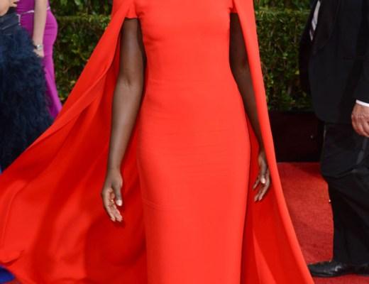 Lupita Nyong'o in Ralph Lauren Golden Globes 2014