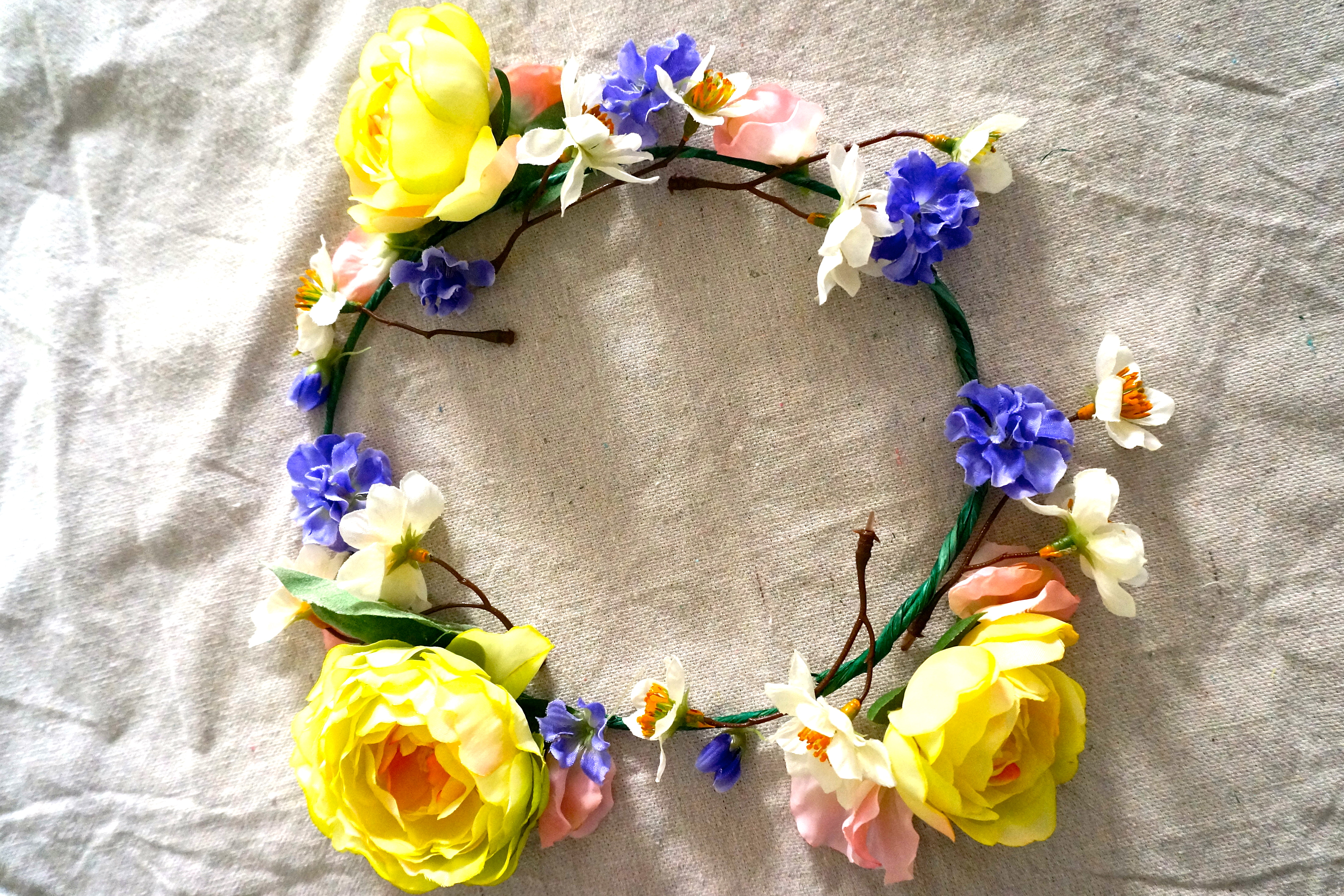 Diy flower crown glam york how to make a transparent flower crown izmirmasajfo Choice Image