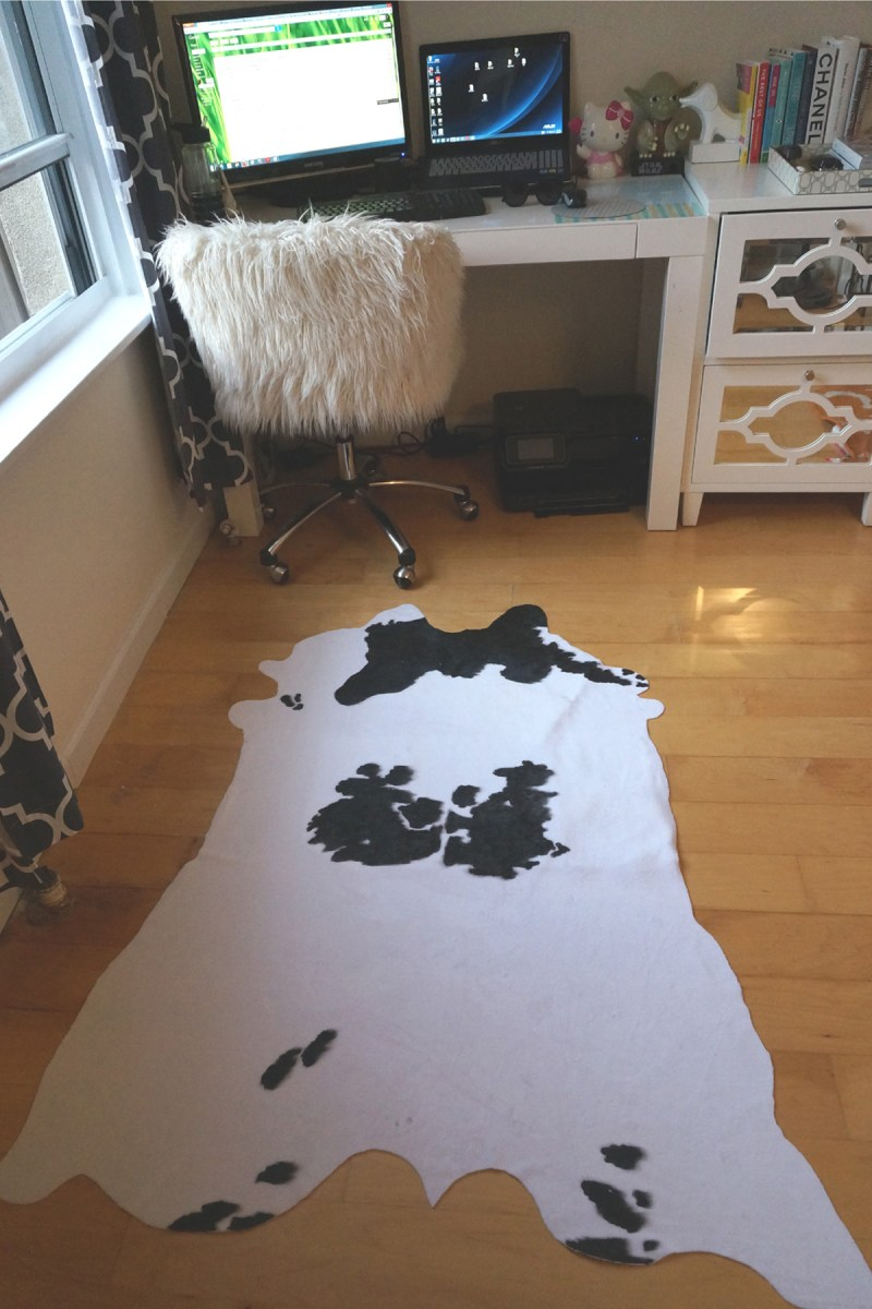 Diy Faux Cowhide Rug Glam York