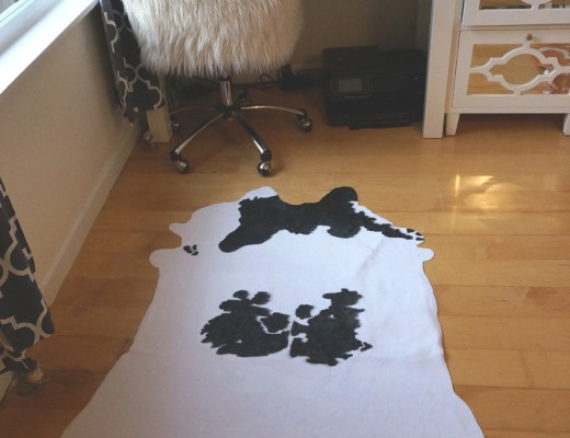 DIY Cowhide rug after