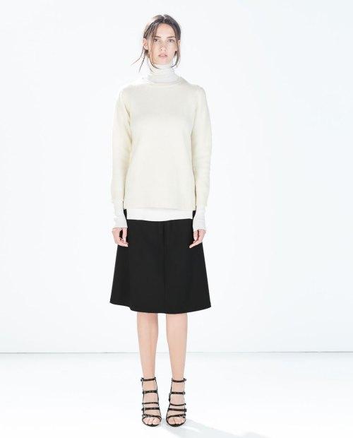 zara-a-line-midi-skirt