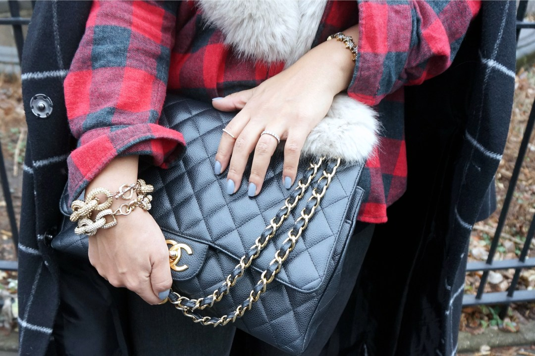 Chanel Maxi Mag Black Caviar Gold Hardware
