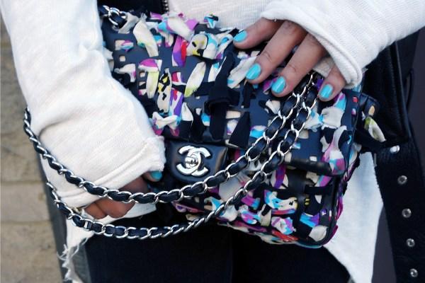 Chanel Lambskin Scarf Woven Bag