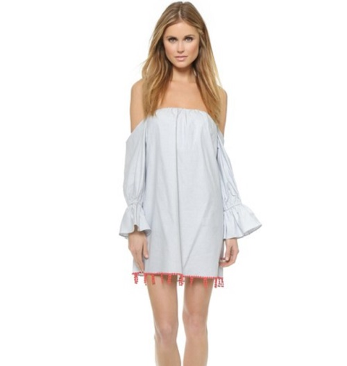 Tbags Los Angeles Off Shoulder Dress
