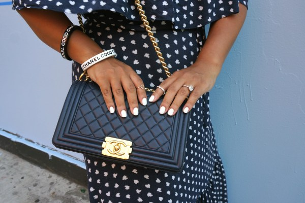 Chanel Boy Bag Navy Gold Hardware