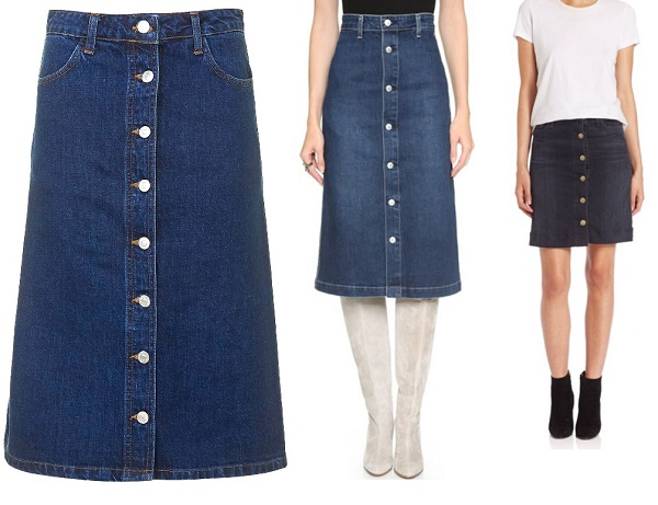 10 Best Button Front Denim Skirts
